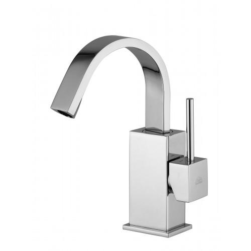 Paffoni Level håndvaskarmatur - Stål look