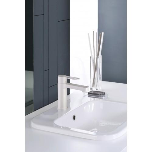 Paffoni Ringo håndvaskarmatur - Mat Hvid