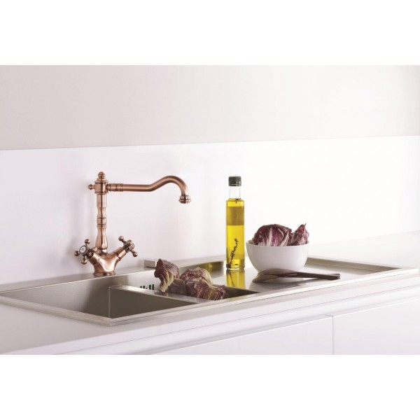 Paffoni Belinda køkkenarmatur retro - Kobber