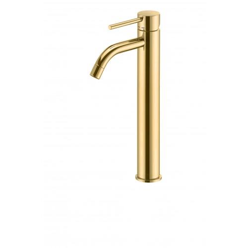 Paffoni Light forhøjet håndvaskarmatur - Poleret Messing
