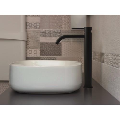 Paffoni Light forhøjet håndvaskarmatur - Mat sort