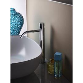 Paffoni Light forhøjet håndvaskarmatur cylindergreb - Stål look