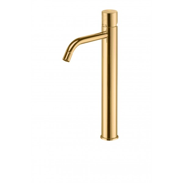 Paffoni Light forhøjet håndvaskarmatur cylindergreb - Børstet Messing